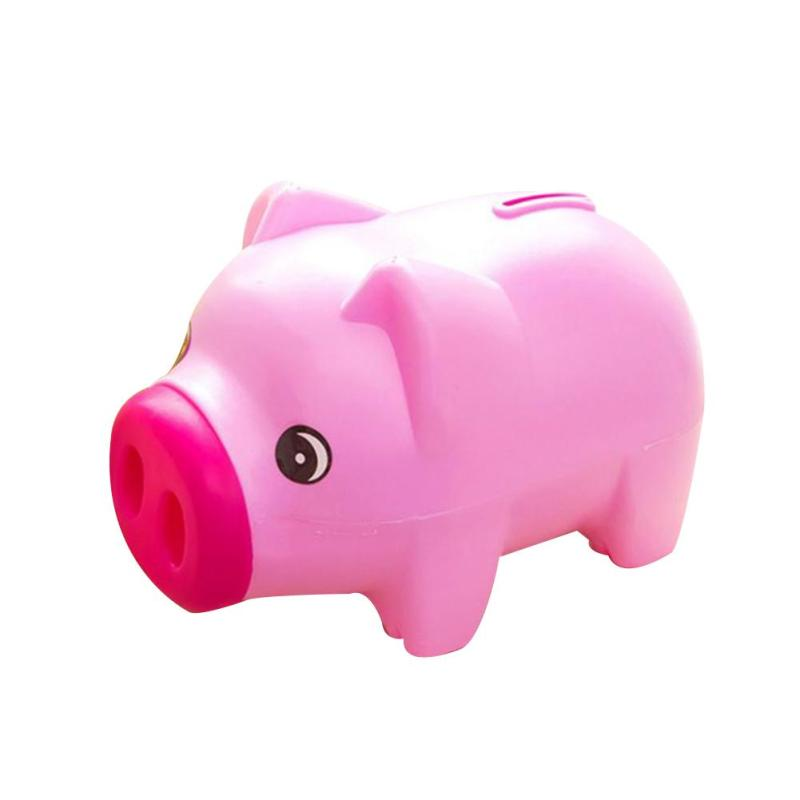 800x800 1pc Cartoon Piggy Bank Plastic Pig Shape Storage Coin Jar Creative