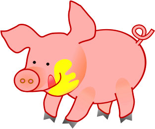 313x261 Pig Cartoon Clip Art Download
