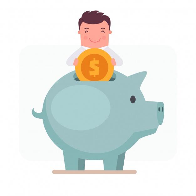 626x626 Piggy Bank Cartoon Vector Vector Free Download