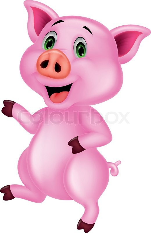 520x800 Vector Illustration Of Cute Pig Cartoon Stock Vector Colourbox
