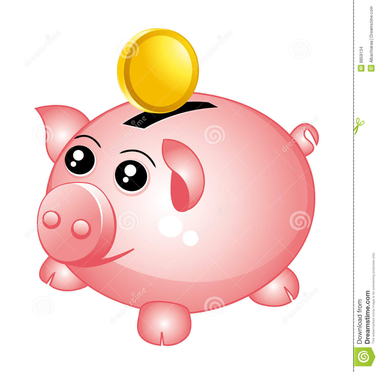1325x1300 Car Piggy Bank Clipart