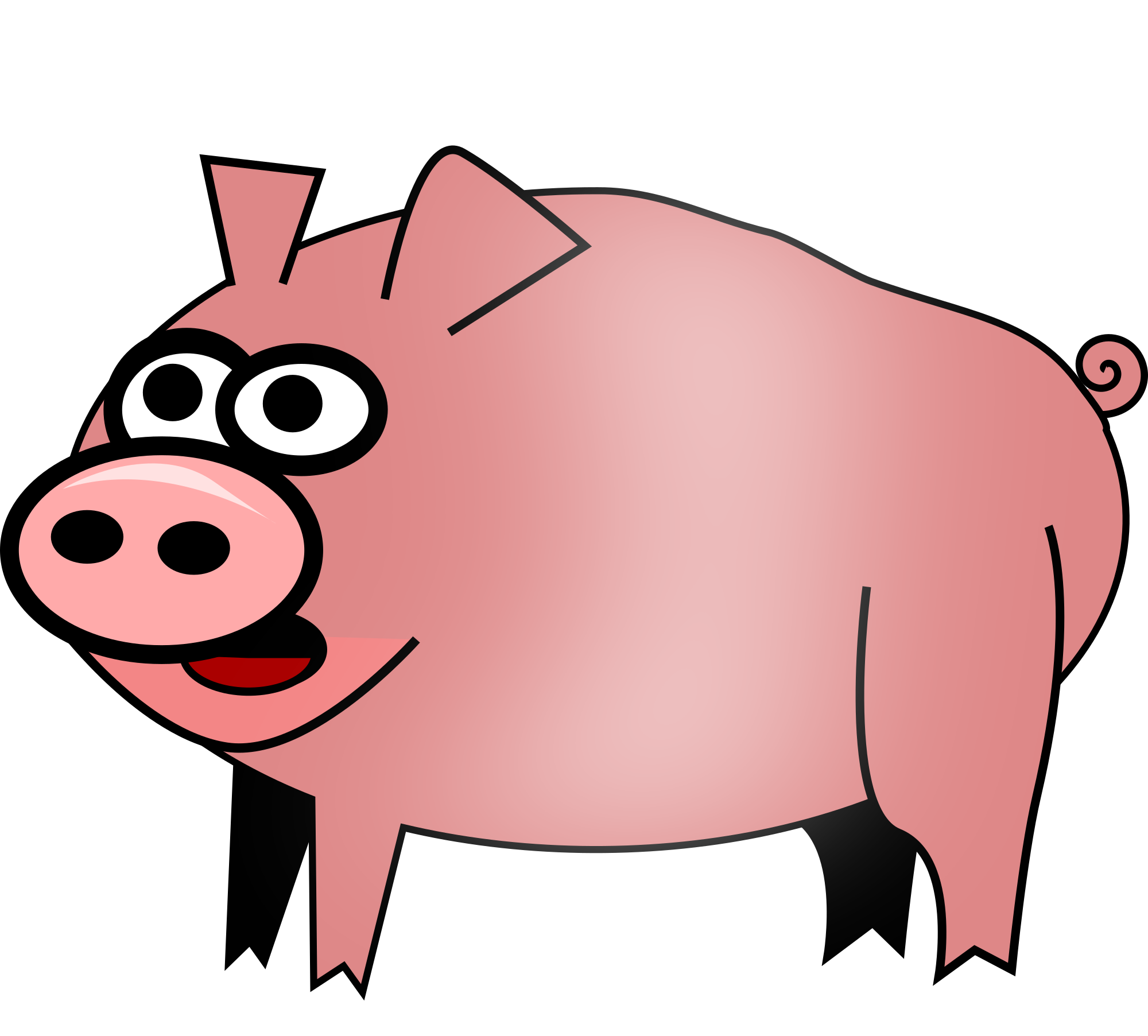 2000x1805 Cartoon Pig Clip Art Free Vector For Free Download About Free