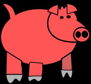 298x276 Cartoon Pig 1 Clip Art