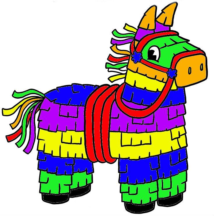 735x742 Donkey Clipart Pinata