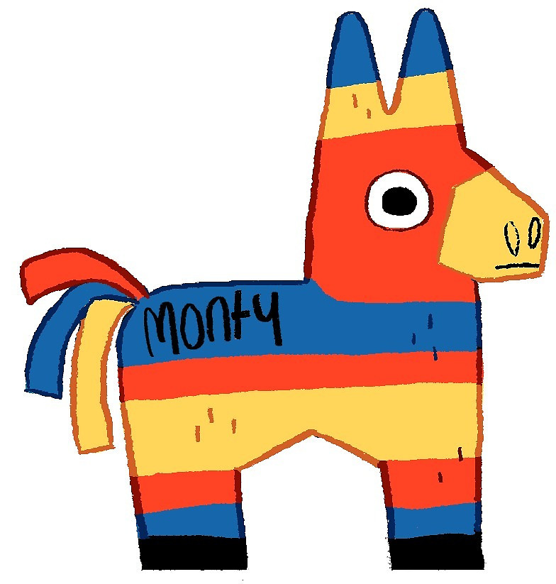 784x823 Monty The Pinata By Doodledate Redbubble