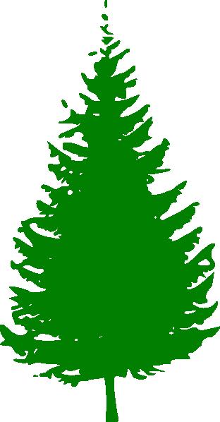 312x598 Pine Tree Green Clip Art