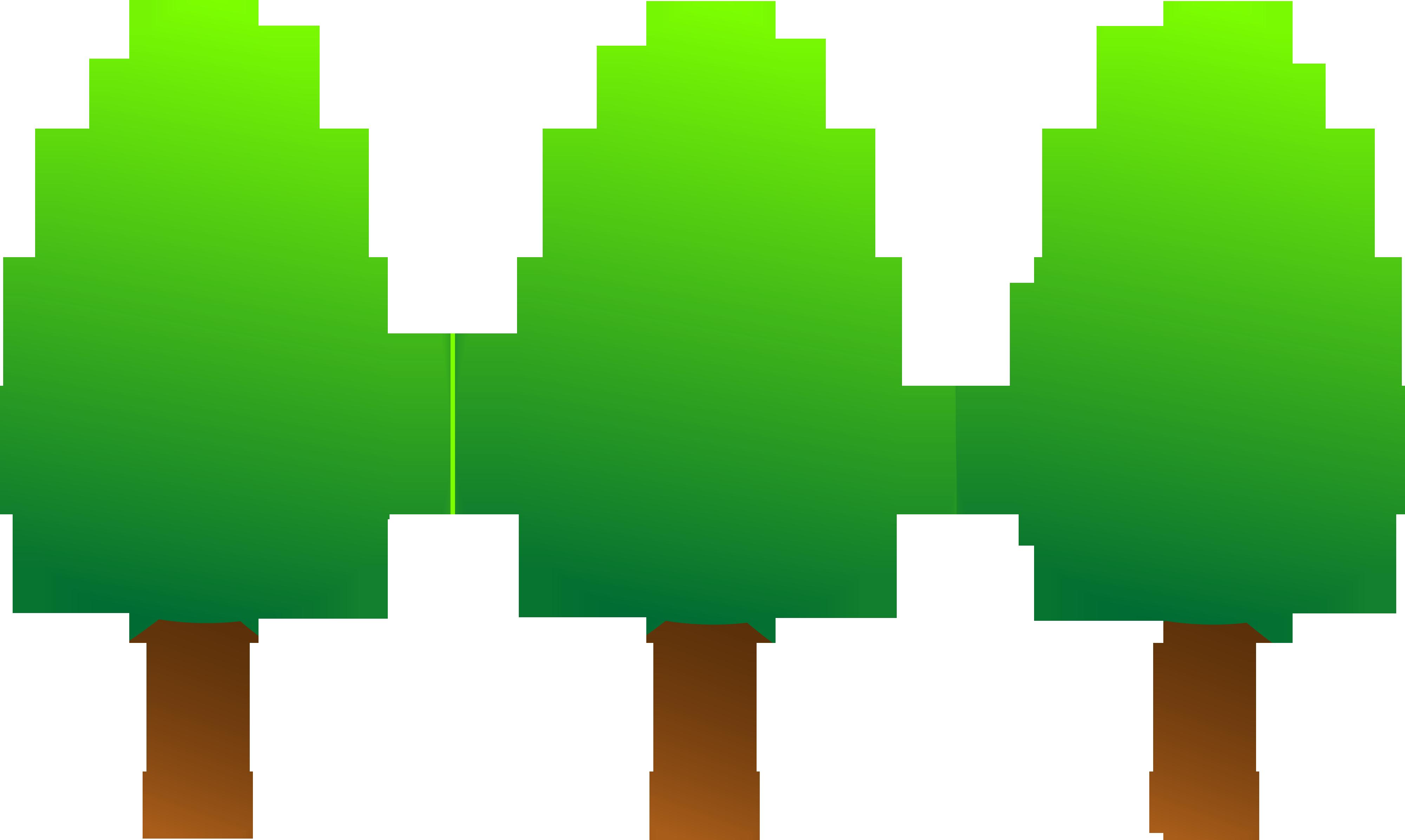 4000x2391 Pine Tree Clipart Cute