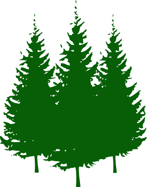 468x596 Pine Trees Clip Art
