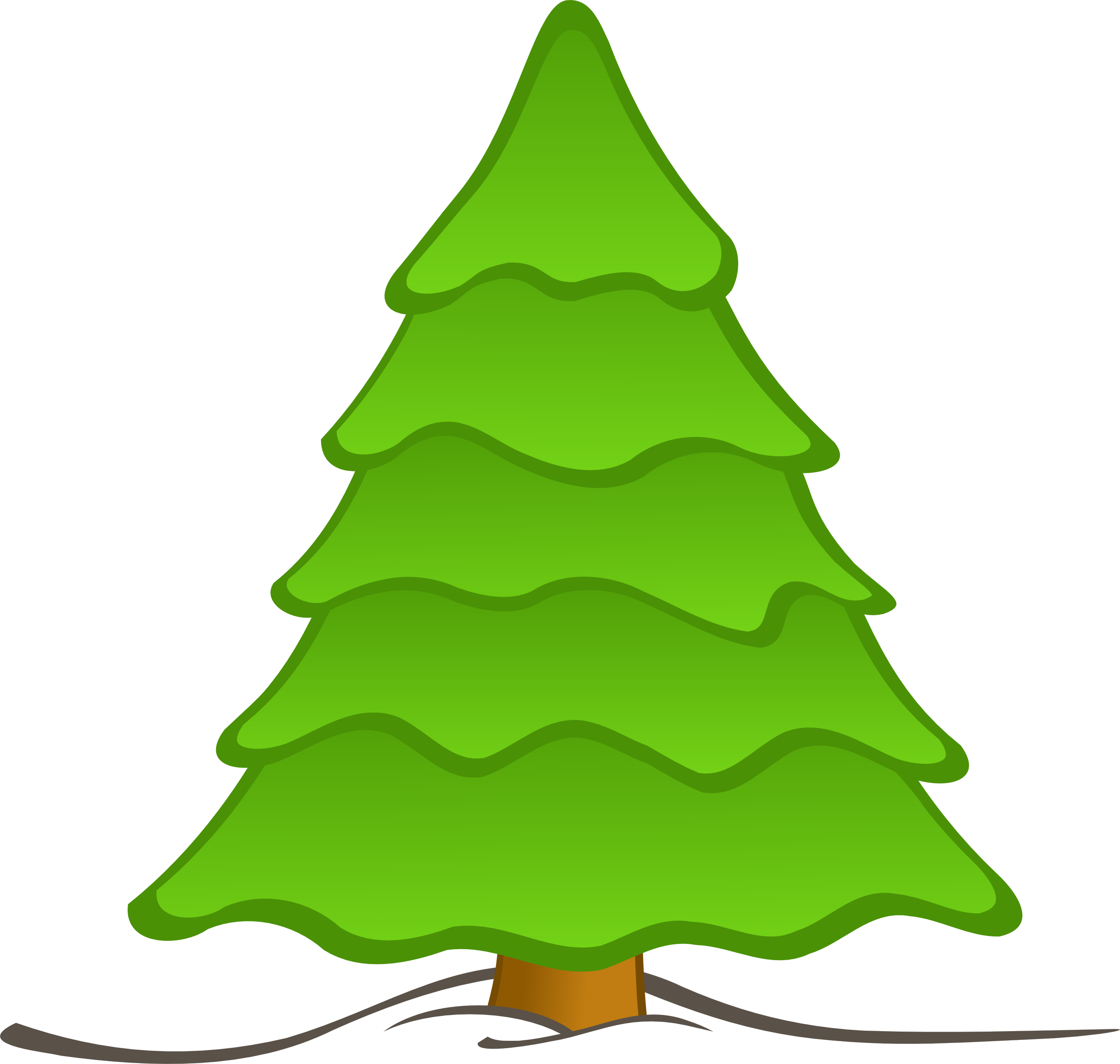 2555x2428 Christmas Tree Clipart Leaves