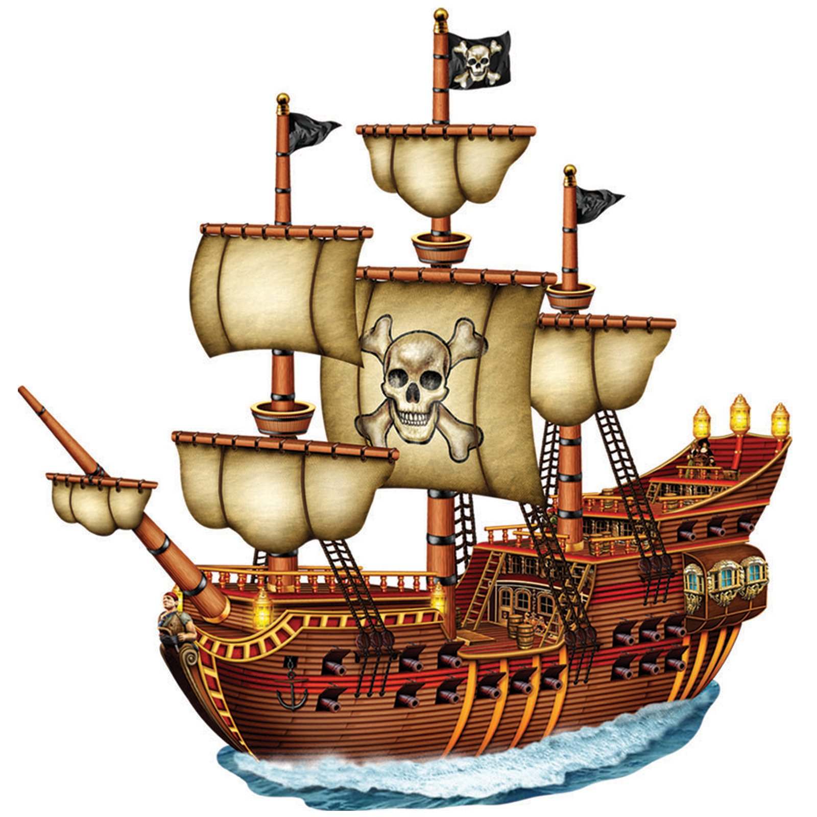 1600x1600 Cartoon Pirate Ship Clipart Kid 3