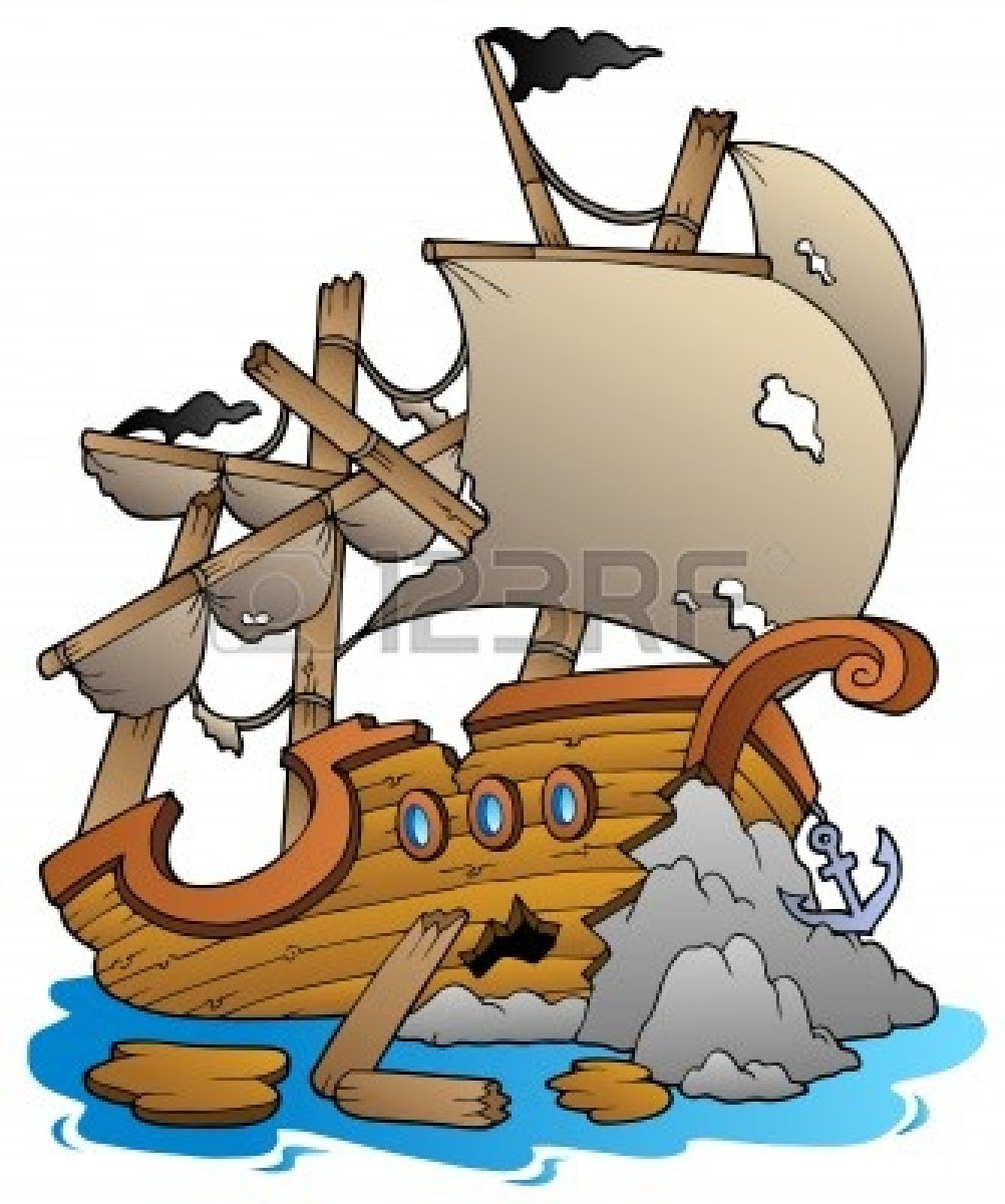 1002x1200 Clipart Of Pirate Shipwrecks