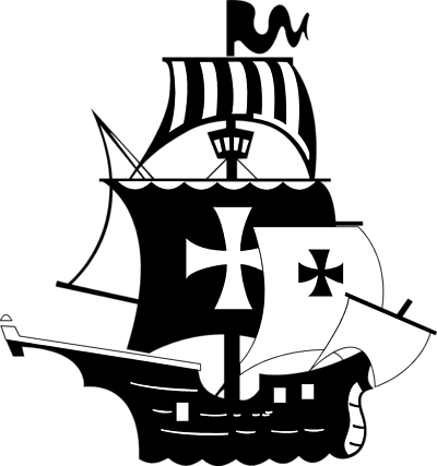 400x427 Pirate Ship Clipart Black And White Free