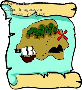 273x300 Art Image Of A Cartoon Pirate's Map