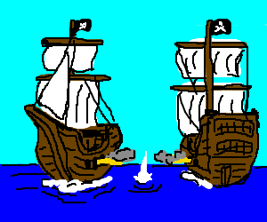 300x250 Battle Clipart Pirate Ship