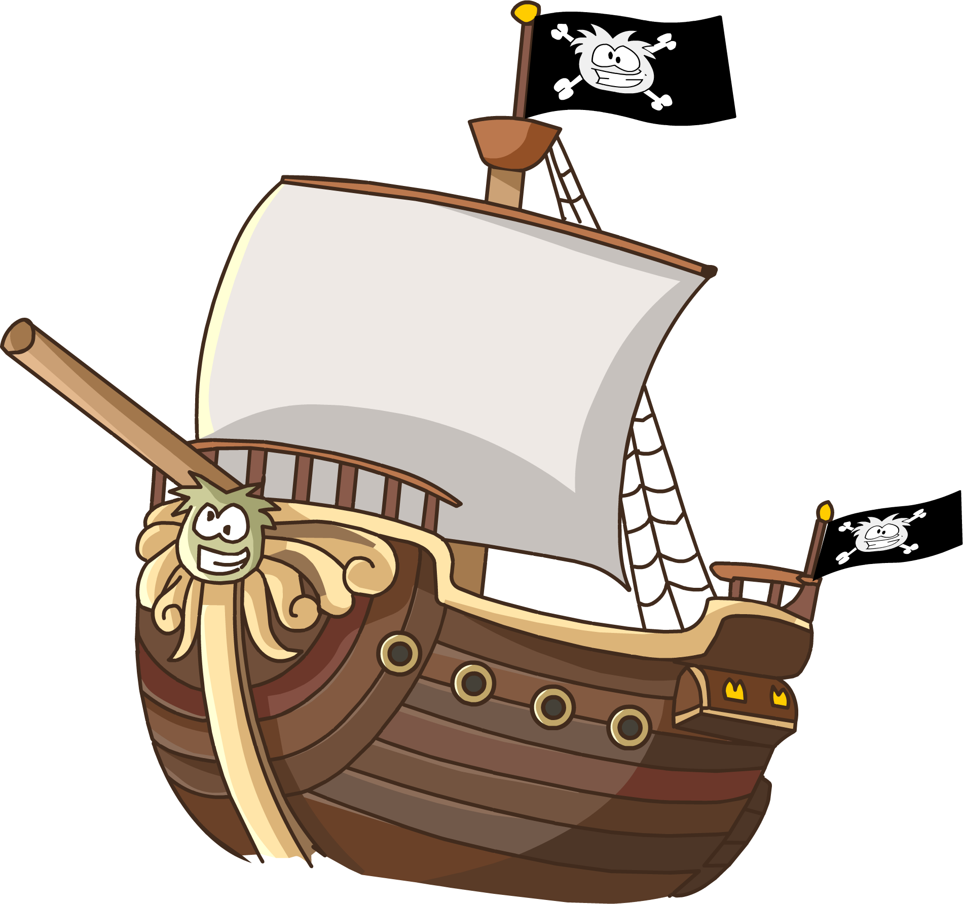 1900x1784 Cartoon Pirate Ship