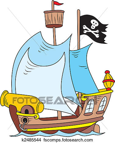 378x470 Clipart Of Pirate Ship K2485544