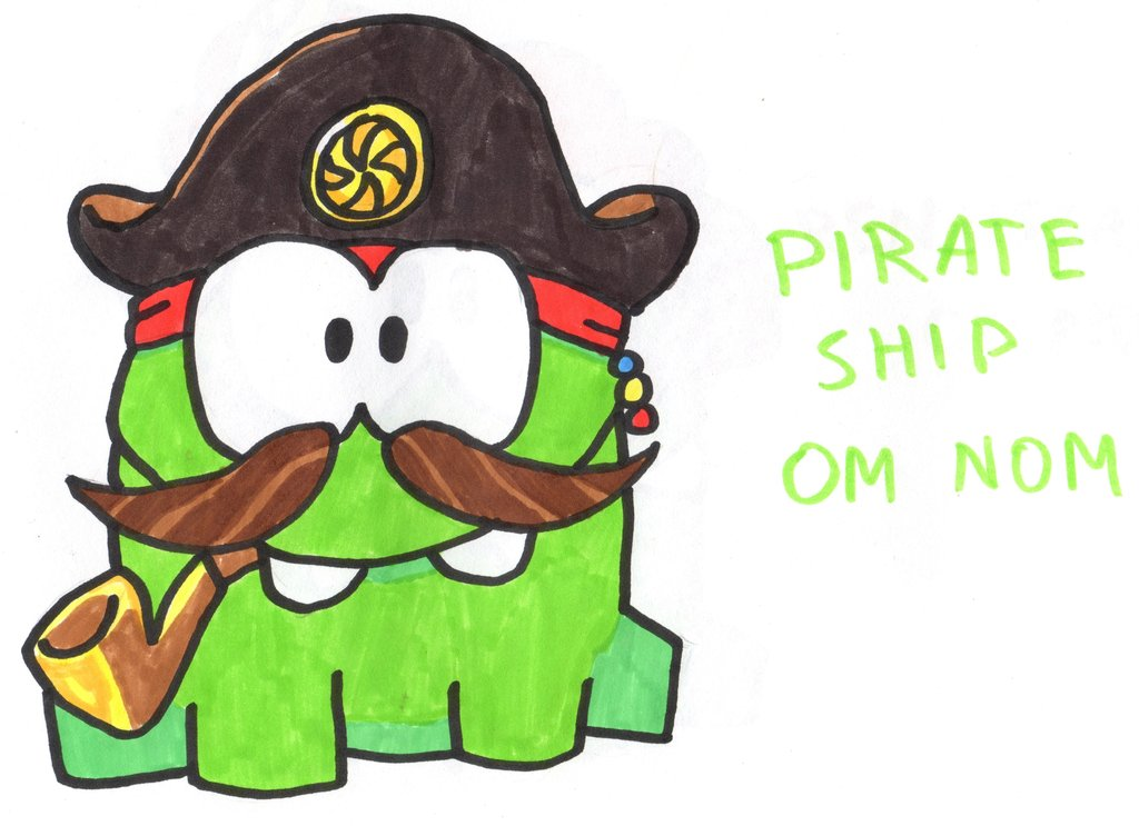 1024x743 Pirate Ship Om Nom By Youcandrawit