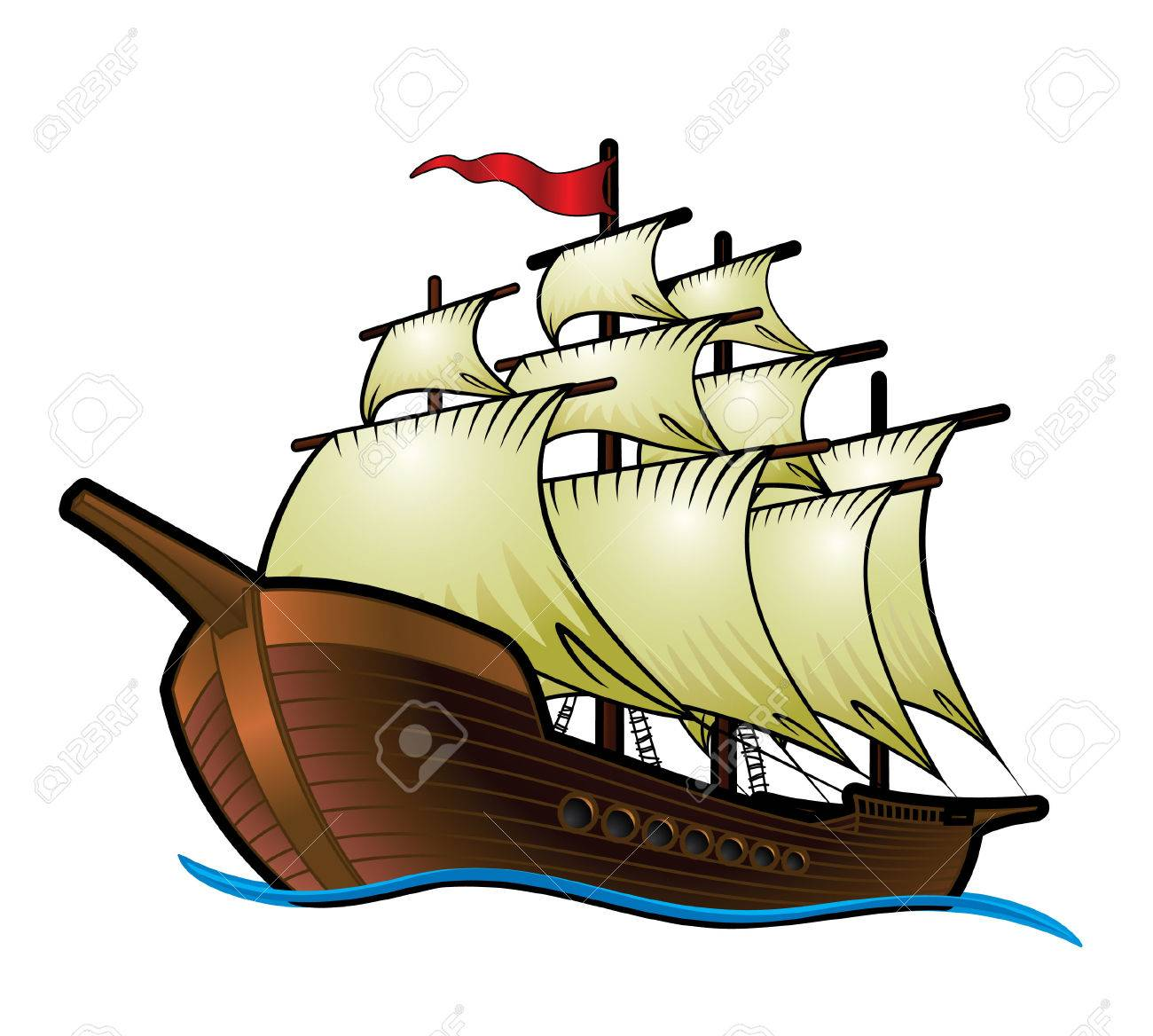 1300x1168 Pirate Ship Royalty Free Cliparts, Vectors, And Stock Illustration