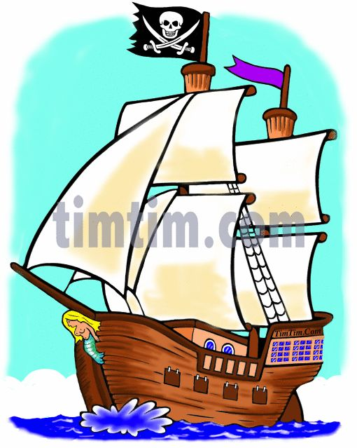 510x639 Sailing Ship Clipart Baby Pirate