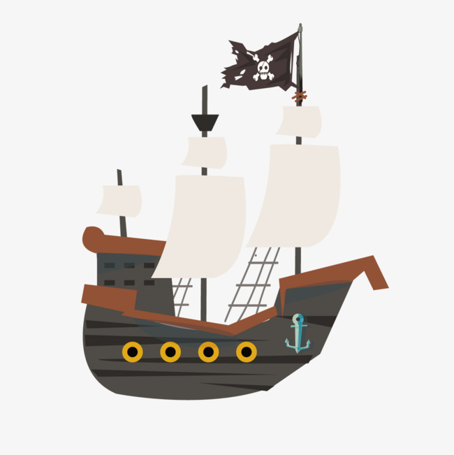 650x651 Cartoon Pirate Ship, Cartoon, Pirate Ship, Ferry Png And Vector