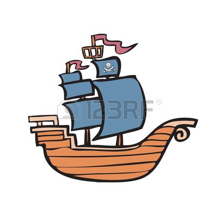 450x450 Cartoon Character Of Pirate Ship Royalty Free Cliparts, Vectors