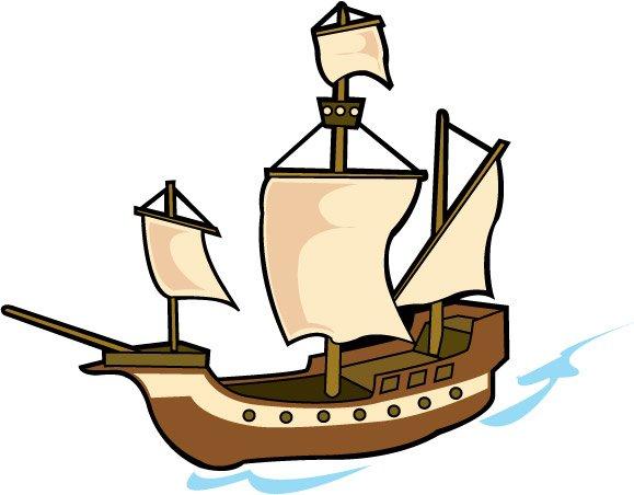 579x452 Cartoon Pirate Ship Clipart