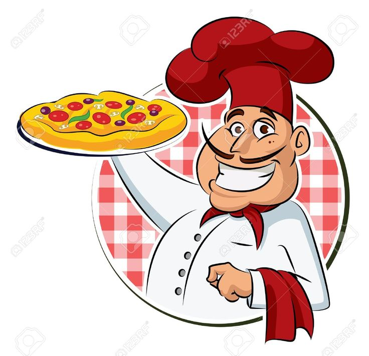 Cartoon Pizza Man Clipart