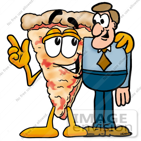 450x450 Clip Art Graphic Of A Cheese Pizza Slice Cartoon Character Talking