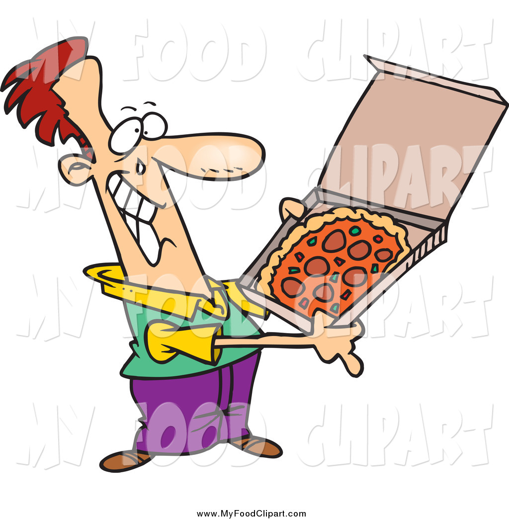1024x1044 Food Clip Art Of A Cartoon Happy White Man With Pizza By Toonaday
