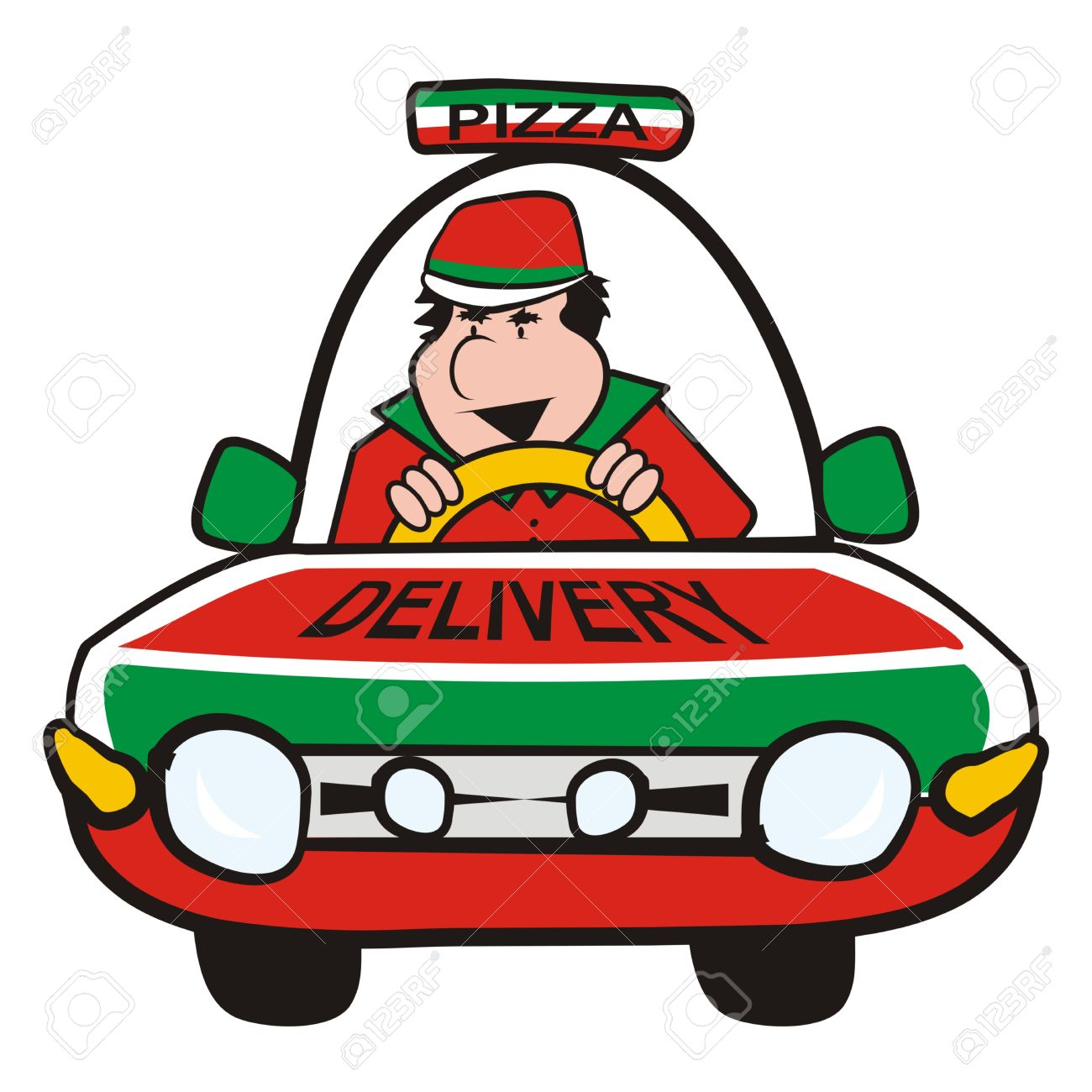 1300x1300 Pizza Clipart Car
