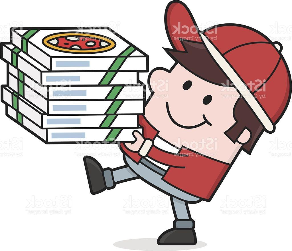 1024x879 Best Free Cartoon Pizza Man Delivers Food Delivery Vector Library