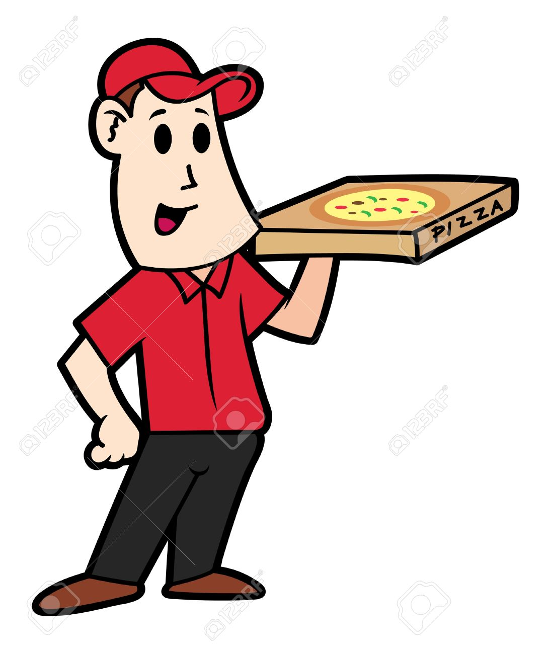 1095x1300 Cartoon Pizza Man Collection