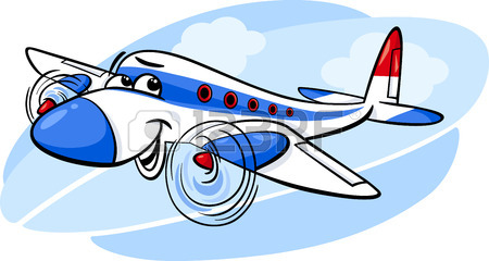 450x240 Cartoon Funny Plane Mascot Character Royalty Free Cliparts