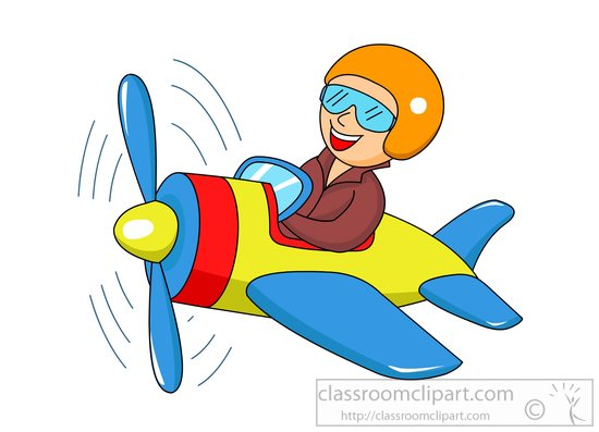 550x397 Aircraft Clipart Man Flying Plane Cartoon Style Clipart 81588