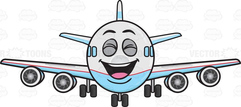 1024x456 Laughing Jumbo Jet Plane Emoji Cartoon Clipart