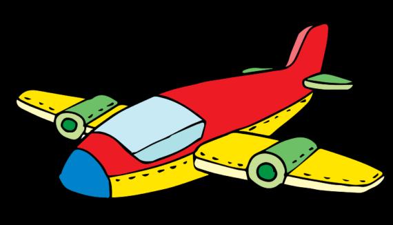 570x326 Cartoon Airplane Clipart