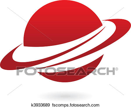 450x370 Clip Art Of Red Cartoon Planet K3933689