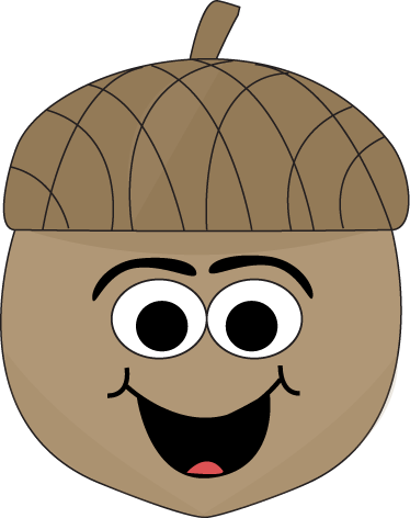 374x472 Cartoon Acorn Clip Art