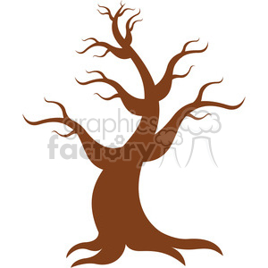300x300 Royalty Free Vector Cartoon Tree 387166 Vector Clip Art Image