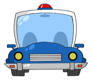 300x261 Police Car Clipart Image