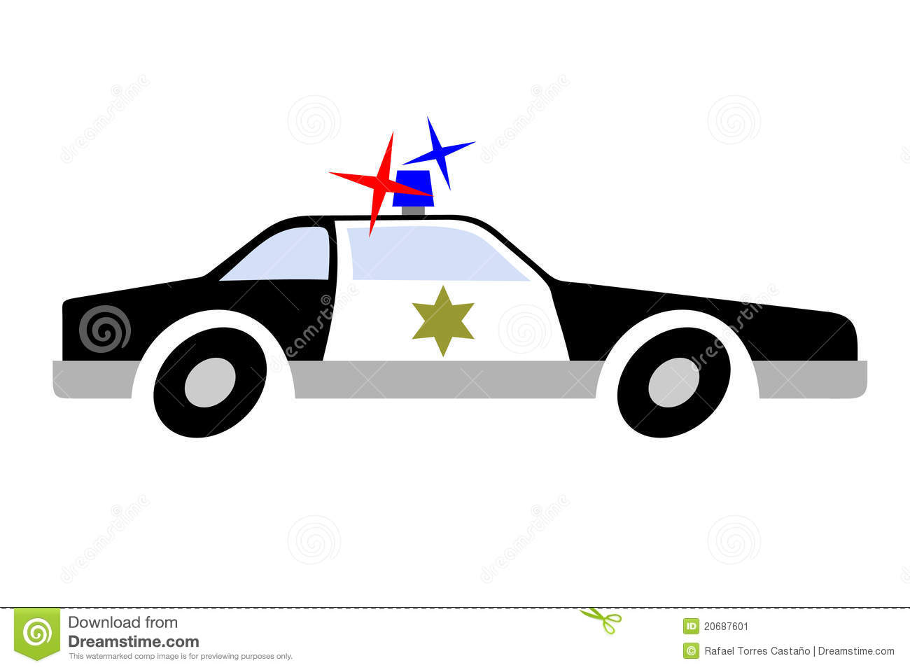 police car drawing cartoon