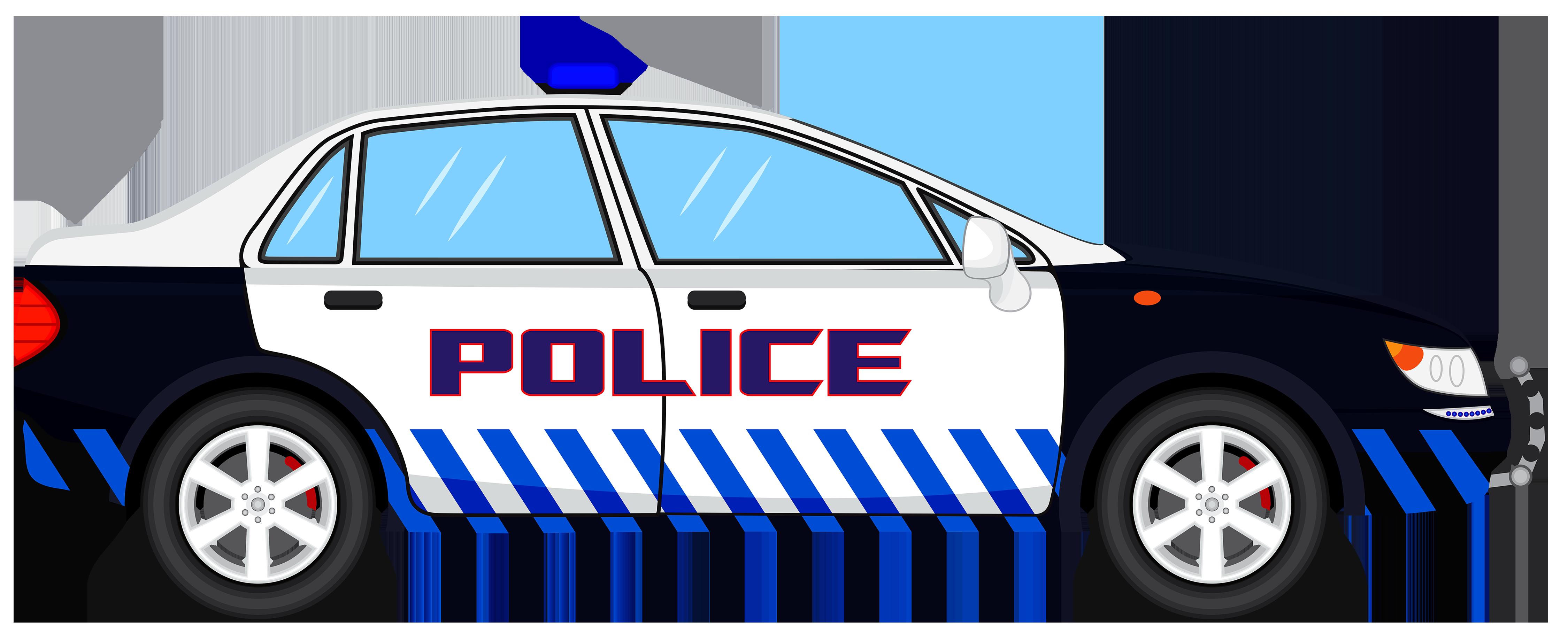 4500x1817 Police Car Transparent Clip Art Image