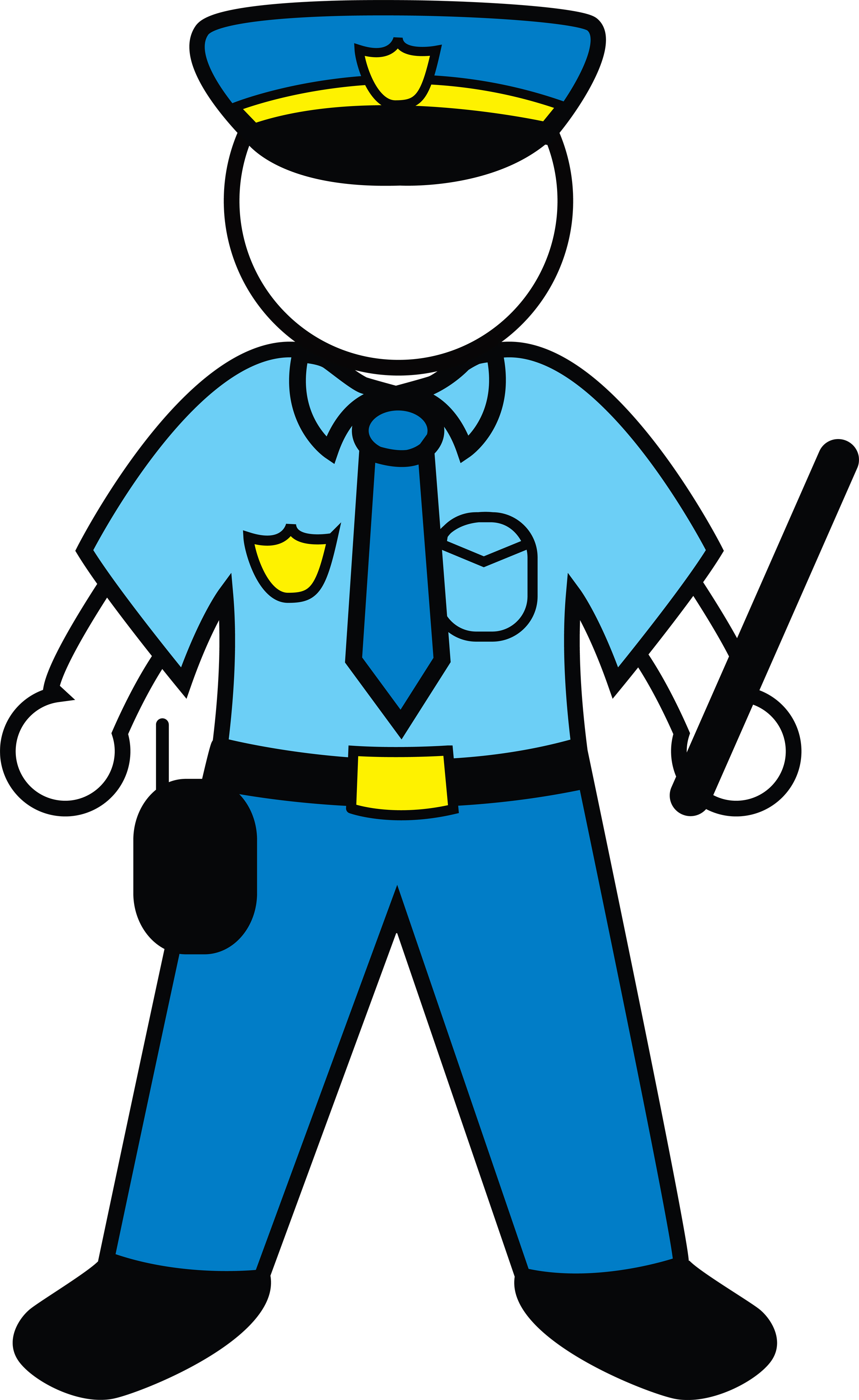 2000x3259 Clip Art Police Officer Uniform Clipart Kid 4