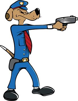 275x354 Clipart Of Police Dog