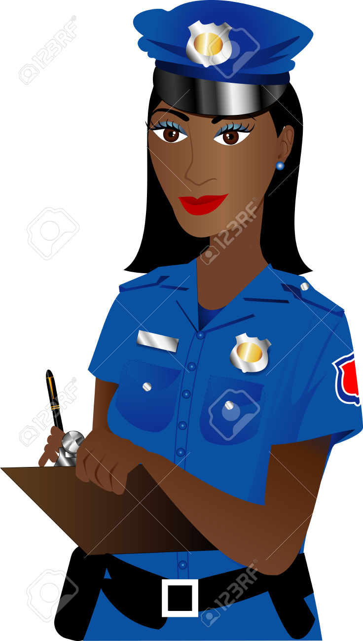 736x1300 Female Police Officer Clipart