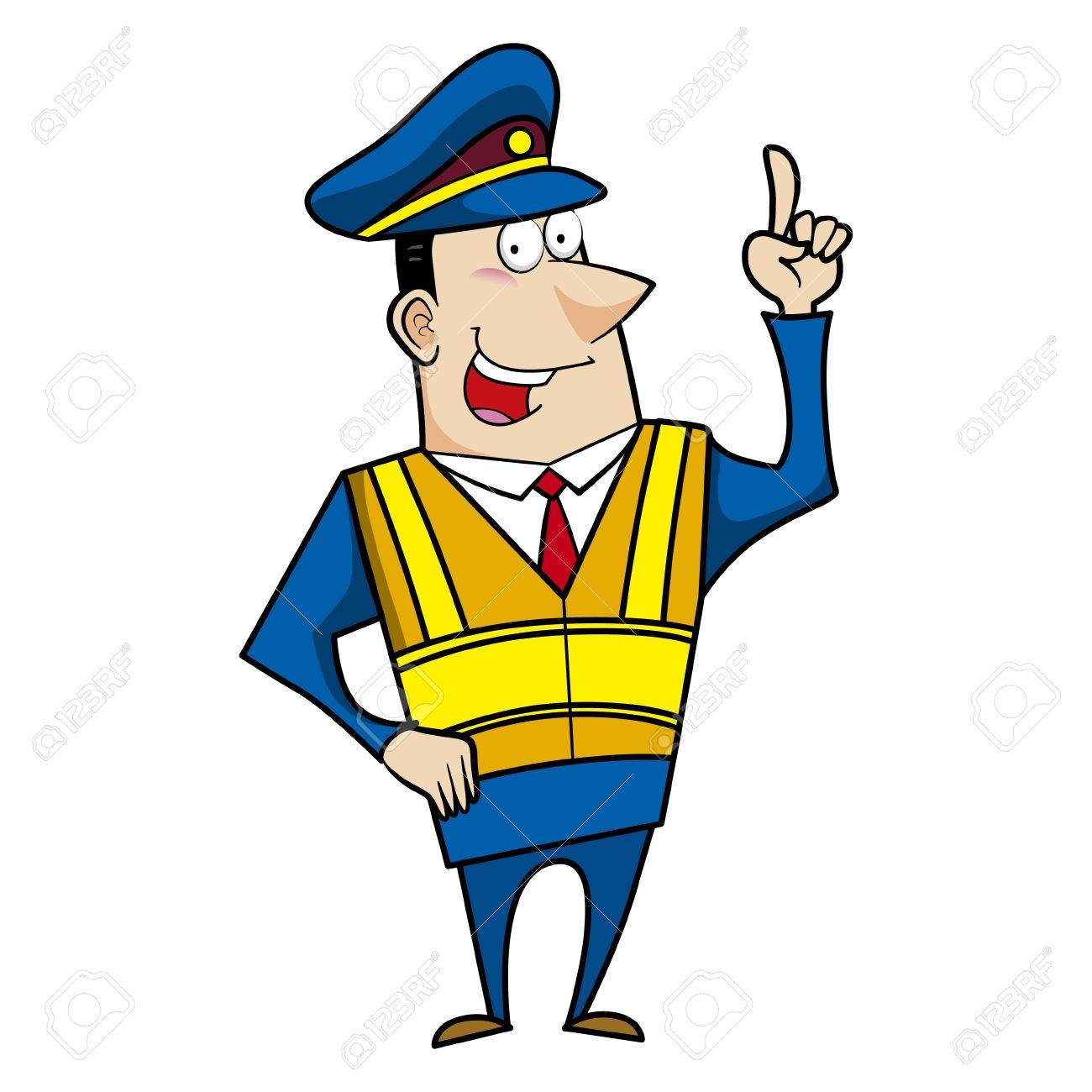 1300x1300 Male Cartoon Police Officer Pointing Royalty Free Cliparts
