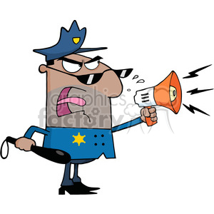 300x300 Royalty Free Cartoon Police Officer 384362 Vector Clip Art Image