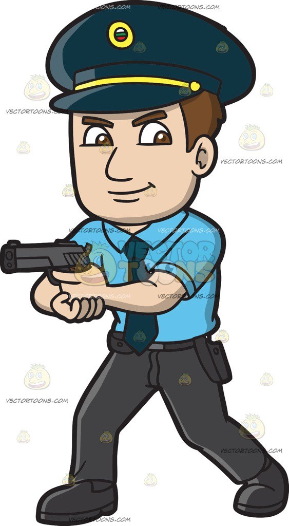 563x1024 A Hungarian Police Officer Cartoon Clipart
