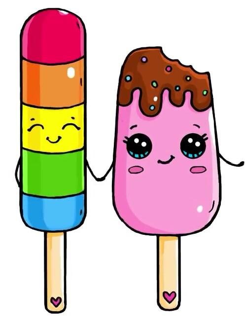 497x659 Popsicle Couple Cute Stuff Couples, Kawaii