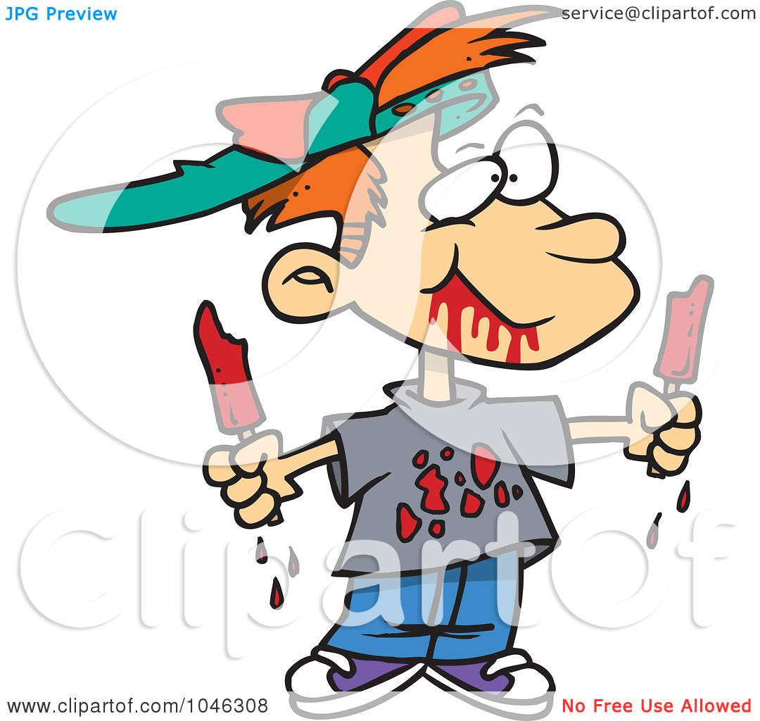 1080x1024 Royalty Free (Rf) Clip Art Illustration Of A Cartoon Messy Boy